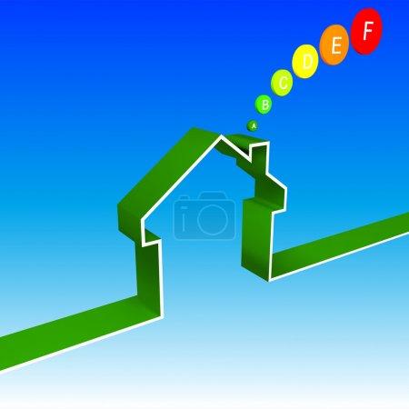 Eco house performance illustration