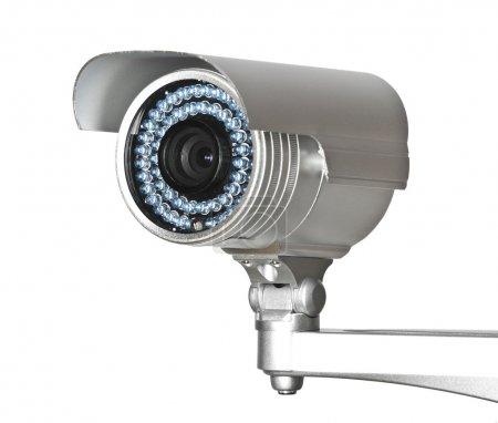 Photo pour Belle image de classique infrarouge caméra vidéosurveillance isolé sur blanc - image libre de droit