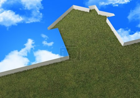 Green house and sky