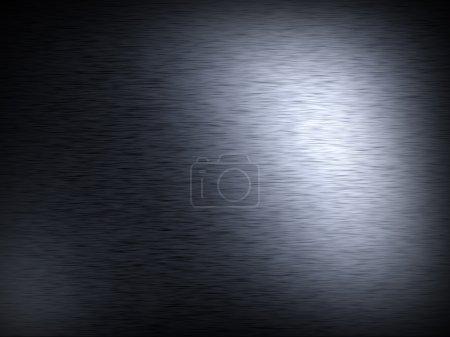 Photo pour Illustration de grunge fine brossé fond métal - image libre de droit