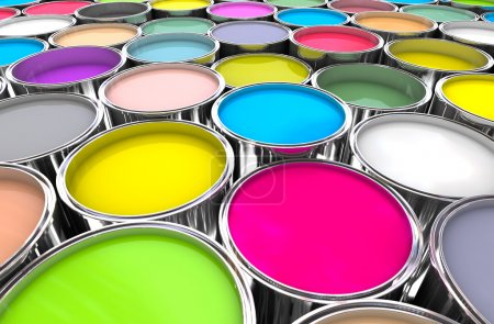Photo for 3d image of 3d paint tank background - Royalty Free Image