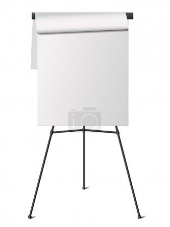 Illustration for Flip chart. Isolated on white background. - Royalty Free Image