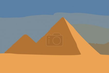 Illustration of Great Pyramids