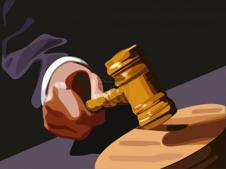 Illustration pour Va sous le marteau - image libre de droit