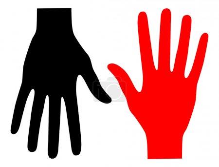 Illustration pour Bras rouge et noir - image libre de droit