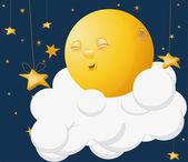 The kind moon on a cloud fairy fantasy