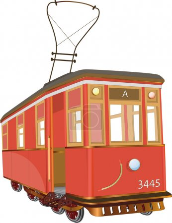 Illustration for Tram bus business cable car - Royalty Free Image