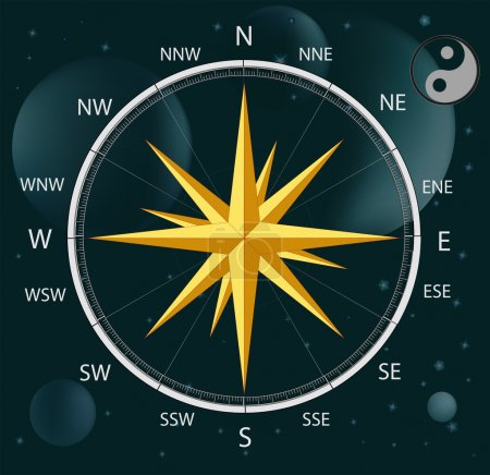 Compass a wind rose