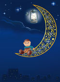 Night of a star a city a lantern of the butterfly and a favourite toy the clown on the moon or my dreams