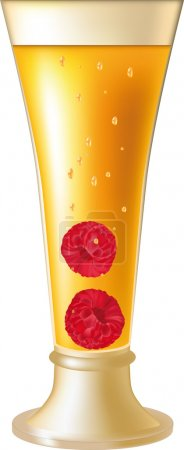 Illustration for Yellow vodka and raspberry champagne - Royalty Free Image