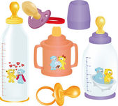 Set of small bottles
