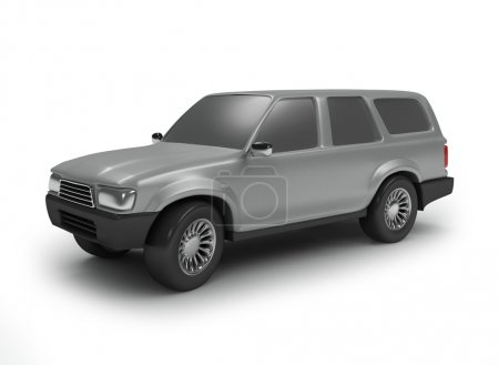 Silver off road car
