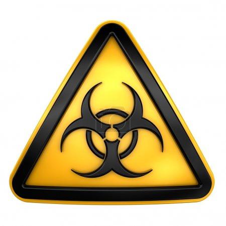 Biohazard caution sign