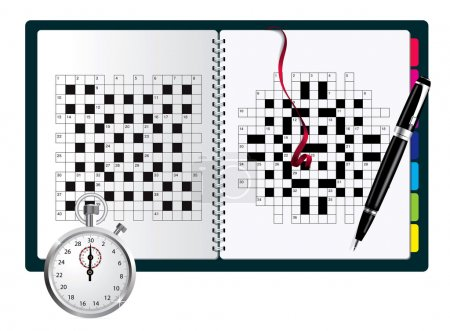 A blank crossword vector in note