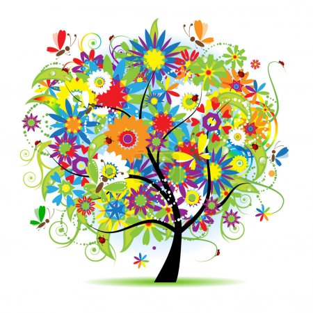 Illustration for Floral tree beautiful - Royalty Free Image