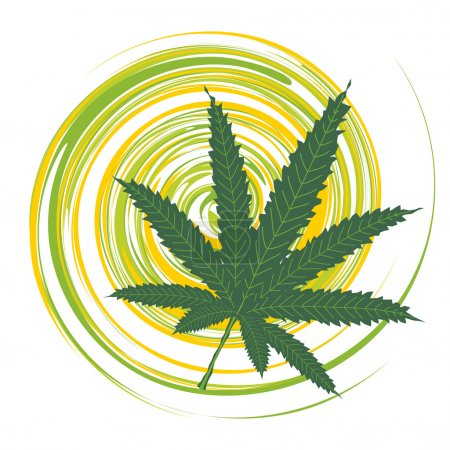 Illustration for Cannabis leaf - Royalty Free Image