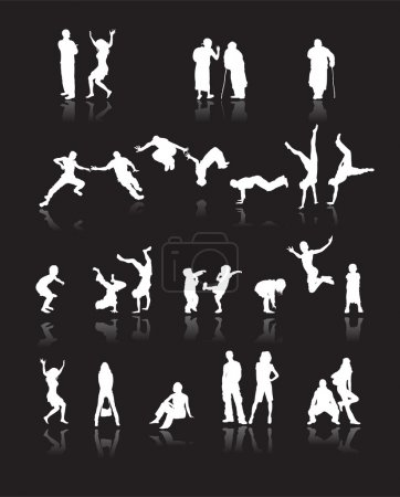 Silhouettes of