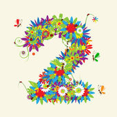 Numbers floral design See also numbers in my gallery