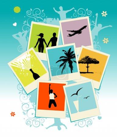 Ilustración de Collage de fotos. plantilla. inserta tu imagen dentro del marco de - Imagen libre de derechos