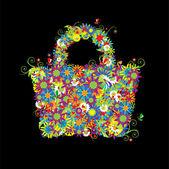Floral shopping bag summer