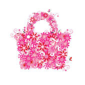Floral shopping bag summer See also floral style images in my gallery