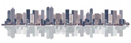 Photo pour Arrière-plan de paysage urbain, art urbain - image libre de droit