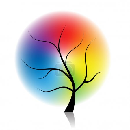 Art tree of spectral colors