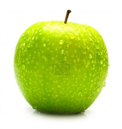 Ripe juicy green apple