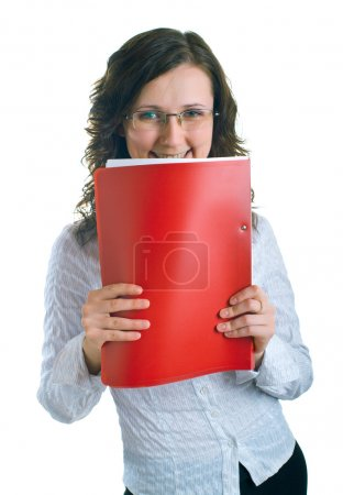 Women with a folder in hands