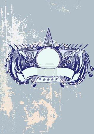 Photo pour Insignia - étoiles en forme de bannière. vierge si vous pouvez ajouter vos propres images. fond grunge. - image libre de droit
