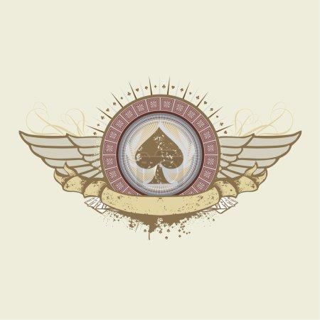 Foto de Ilustración sobre un tema de apuestas. espadas traje emblema - Imagen libre de derechos