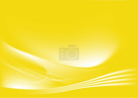 Photo for Yellow abstract lines background: composition of curved lines-great for backgrounds, or layering over other images - Royalty Free Image