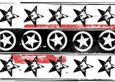 Grunge stars pattern