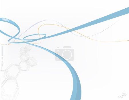 Photo pour Illustration - fond abstrait composé de formes polygonales et de lignes courbes - image libre de droit