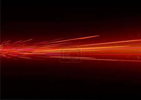 Photo for Futuristic background resembling red motion blurred neon light splashes - Royalty Free Image