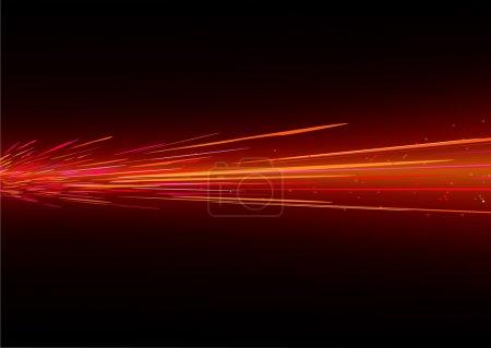 Foto de Futurista fondo rojo moción borrosa luz de neón que se asemejaban a salpicaduras - Imagen libre de derechos