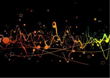 Photo pour Fond de lignes abstraites : composition de lignes courbes, points et dégradés colorés - idéal pour les arrière-plans, ou superposition sur d'autres images - image libre de droit