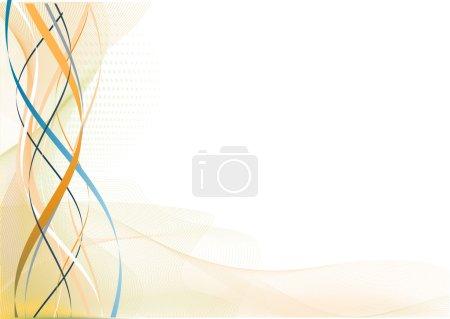 Photo pour Illustration des mailles lignes courbes et éclaboussures de couleur - image libre de droit