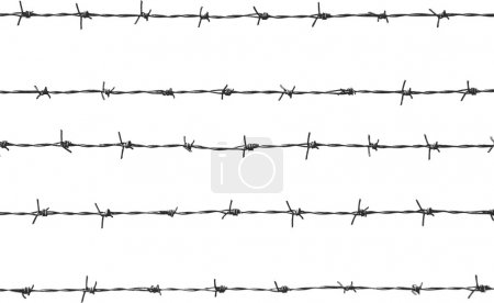 Five pieces of barbed wire...