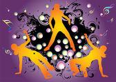 Hip hop silhouettes