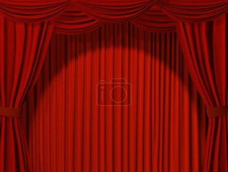 Foto de Cortina teatral de color rojo - Imagen libre de derechos