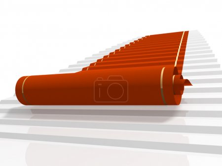 Photo for Conceptual 3d image - red carpet - Royalty Free Image