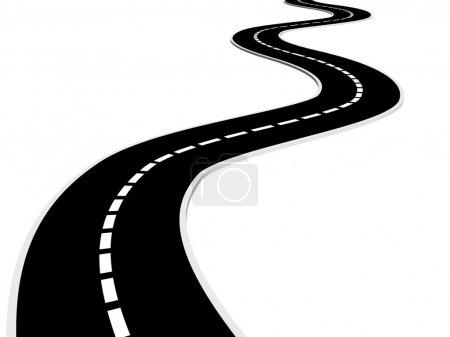 Photo pour Route asphaltée isolée - rendu 3d - image libre de droit