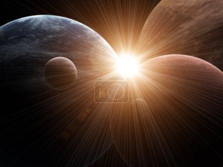 Photo pour Illustration - une fusée belle fantastique - image libre de droit