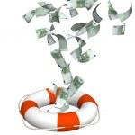 Conceptual image - help at financial crisis...