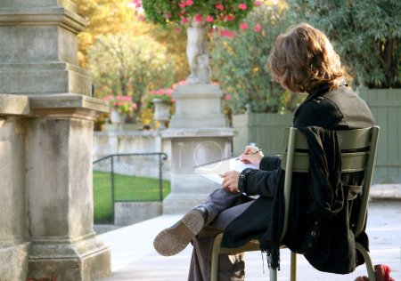 Girl drawing in the Luxembourg Garden
