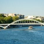 Постер, плакат: Pedetrian bridge over the Seine Paris