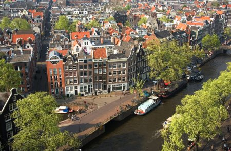 Bird view of Amsterdam