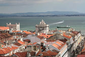 Bird view of central Lisbon