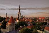 """Постер, картина, фотообои """"старый город Таллинн"""""""